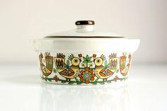 Vintage Scandinavian Birds Casserole Dish by WiseApple on Etsy