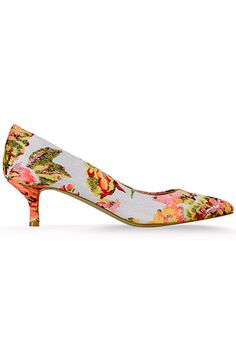 b1313345a7d These pretty floral kitten heel shoes by Stella McCartney Pre-Spring) would  make a lovely and very feminine addition to any wedding outfit.