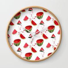 fun watermelon wall clock