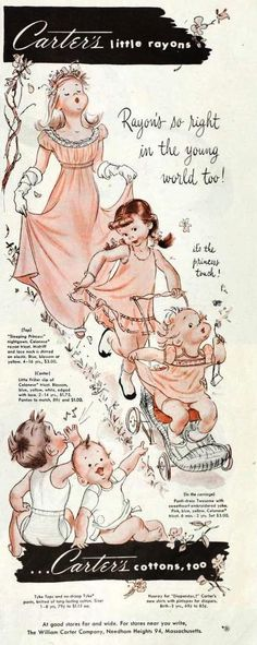 Vintage Carter's ad, 1951. Remember shopping at Carters in Needham