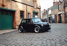 My dad's Classic ERA mini. 1 of 9 Black - EGB. Photo taken early to mid Mini Cooper S, Mini Cooper Classic, Classic Mini, Classic Cars, My Dream Car, Dream Cars, Minis, Engin, Mini One