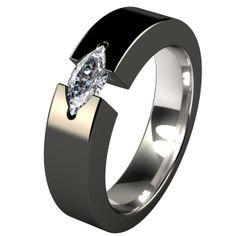 Isis Black Titanium Engagment Ring