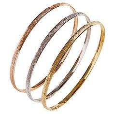Nexte TextuTri-color 'Fin de Semana' Bangle Bracelets