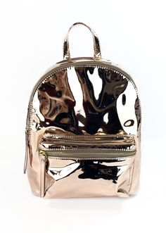 Holographic backpack with zipped front pocket, inside compartments,  adjustable straps. Jossie Ochoa 0f30d9cdc6