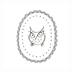 The Infamous Grumpy Owl Embroidery Pattern Woodland Critter Digital Downloadable