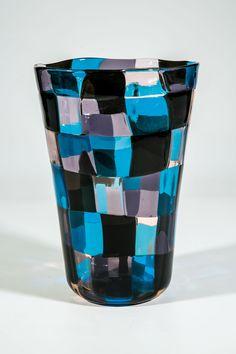 ** Fulvio Bianconi 'Pezzato' glass vase, Venini, Italy