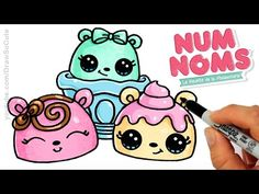 How to Draw Macarons Cute step by step Sweet Cartoon Desserts - YouTube