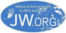 """JW.org,(2) 3""""x6"""",  MAGNETIC Decal, Jehovahs Witnesses"""