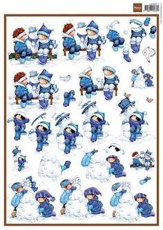 MD knipvel A4 Snoesje & snowman