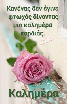 Καλημερα Good Morning Happy, Good Morning Greetings, Beautiful Pink Roses, L Love You, Night Photos, Good Night, Happy Birthday, Mornings, Google