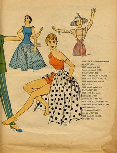 Simplicity 1956 oh the polka dot one!!