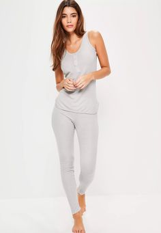 18371055ff Cosy up this weekend in this ribbed vest and leggings pj set and have the  perfect