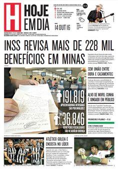Capa do dia 14/10/2016 #HojeEmDia #Jornal #Notícias #News #Newspaper