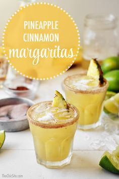 Perfect Pineapple Cinnamon Margarita. Try it with Citrónge and Patrón Silver.