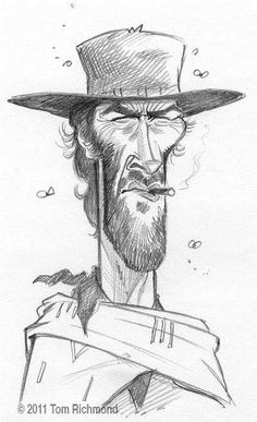 Clint Eastwood Pencil drawing by Tom Richmond