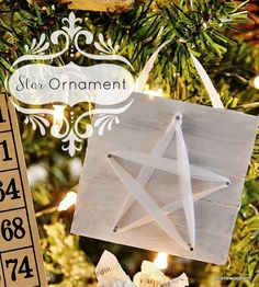 This is such an adorable ornament made from popsicle sticks and ribbon. Check it out! by @Thistlewood Farm