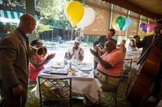 Jazz band plays during brunch at Commanders Palace in New Orleans