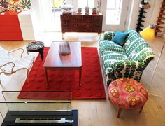 Just Scandinavian (Tribeca) carries bright, cheerful, street-from-Stockholm Joseph Frank fabrics–on pillows, sofas and chairs. You'll smile just walking in the door.