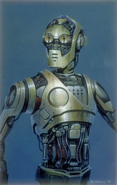 Star Wars: Episode I C-3PO concept art by Doug Chiang.