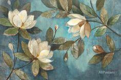 Floating Magnolias Impressão artística