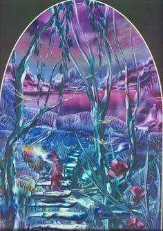 Fantasy Wizards | Encaustic Art by Barry Moulton- original fantasy art in the ancient ...