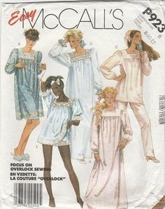 Vintage Easy McCall s sewing pattern for women s nightgown 04c505b58