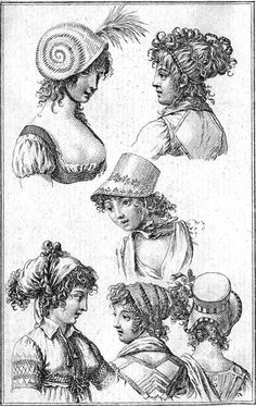 Hairstyles & Head Dresses for 1801.