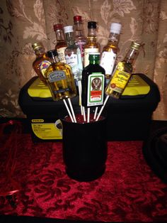 Alcohol Bouquet, Prizes For The Daddy Baby Shower, Guests Got To Pick A  Bottle