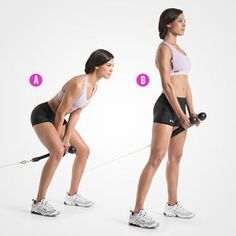 Single-Leg Barbell Straight-Leg Deadlift | Women's Health