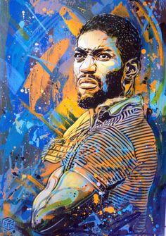 "C215 [Christian Guémy]_ french artist - ""Portrait of Kase2"" (1982-2011)"