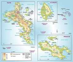Seychelles map with capital Victoria cose che mi piacciono
