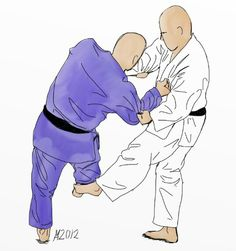 001 - Cool Illustrationg of De Ashi Barai - Judo Martial Arts Techniques, Self Defense Techniques, Tai Chi, Judo Throws, Catch Wrestling, Ju Jitsu, Art Basics, Kendo, Fight Club