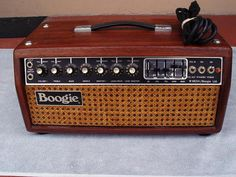 """MESA-BOOGIE MARK II B WOOD AND WICKER AMP HEAD 1981 -- they just have the right """"look"""""""