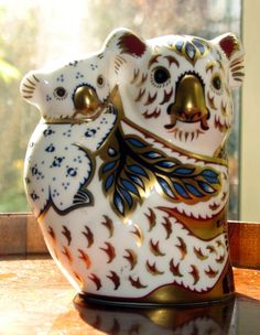 Royal Crown Derby Animal Paperweight Koala Bear And Baby