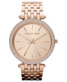 Michael Kors Watch, Women's Darci Rose Gold-Tone Stainless Steel Bracelet 39mm MK3192