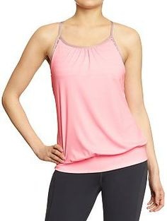You can't tell from the pic but this is literally the cutest yoga tank on the planet!! It's even cuter than the Lulu No Limits tank it is ripping off! Plus, under $20! The open keyhole back and the light textured fabric look so great on. I love this tank. Women's Old Navy Active 2-in-1 Tanks | Old Navy