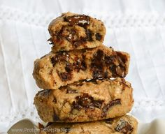 Protein Treats by Nicolette: Monster Chocolate Chunk Quest Bar Almond Cookies