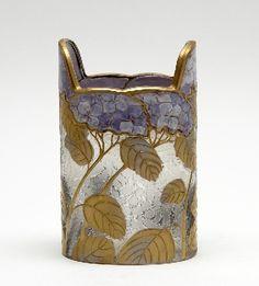 Legras & Cie (Saint Denis)  Vase mit Hortensiendekor Legras, Nancy. Mont…