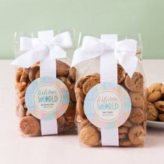 Personalized Baby Shower Cookie Favor Bags