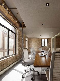 Felt applied to the ceiling boosts acoustics in a conference room.  | fabulous filzFELT # Carolina Interior Works