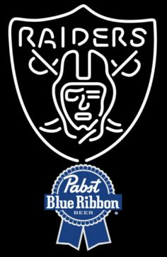 Pabst Blue Ribbon Oakland Raiders NFL Neon Sign 1 0024, Pabst with NFL Neon Signs | Beer with Sports Signs. Makes a great gift. High impact, eye catching, real glass tube neon sign. In stock. Ships in 5 days or less. Brand New Indoor Neon Sign. Neon Tube thickness is 9MM. All Neon Signs have 1 year warranty and 0% breakage guarantee.