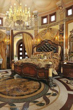 Opulent Master Bedroom.