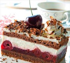Čokoládovo - čerešňové rezy