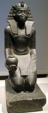 Kneeling Statue of Khahotepre Sobekhotep V. Altes Museum Berlin