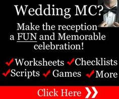 How To Be A Wedding MC. Must Have Advice For The Novice Wedding Master of Ceremonies Who Wants To Create An Amazing Reception For The Bride and Groom And Their Guests. Mc Wedding Script, Wedding Mc, Wedding Ideas, Dream Wedding, Wedding Stuff, Wedding Toasts, Wedding Advice, Wedding Book, Wedding Themes