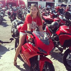 Girl with the Red Ducati - Instagram by @nicolawesseling