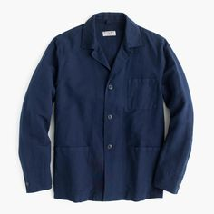 Wallace & Barnes garment-dyed Irish cotton-linen shirt-jacket