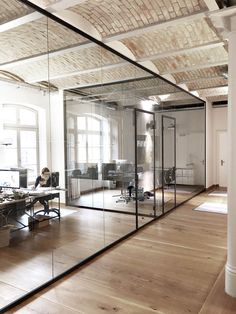 Corporate office design, especially executive's office needs careful planning and attention to detail. Executives require a space which… Corporate Office Design, Office Wall Design, Modern Office Design, Office Designs, Office Ideas, Office Design Concepts, Commercial Office Design, Corporate Offices, Industrial Office Space
