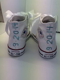 Women Converse Custom Wedding/Bride/ White por TaylorsPenny en Etsy