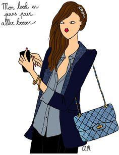 Du jean pour aller bosser http://www.doitinparis.com/fr/mode-femme/le-look-de-la-semaine/du-jean-pour-aller-bosser-1949 #mode #look #jeans